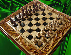 Різьблені шахи сувенірні