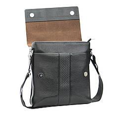 Мужская сумка B.N.S.DAISHU мессенджер 25х26х7 вертикальная экокожа м 753-2ч, фото 2