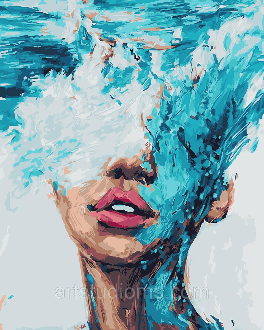 интернет магазин картин раскрасок по номерам в украине купить заказать приобрести раскраска для взрослых и детей стихия воды 40 х 50см без