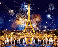 Раскраска Антистресс для взрослых и детей Салют над Парижем, 40 х 50 см , С Коробкой