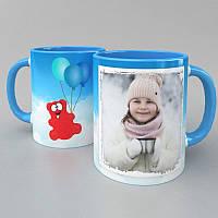 Чашка Валера на шариках с вашим фото
