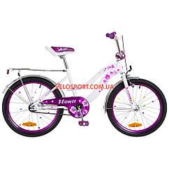 Детский велосипед Formula Flower 20 дюймов бело-фиолетовый