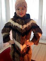 Детская шуба роскошная из натурального меха нутрии, фото 1