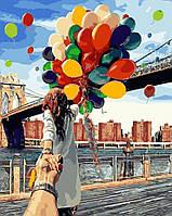 DIY Раскраски для взрослых Следуй за мной. Бруклинский мост 40х50см, Без Коробки