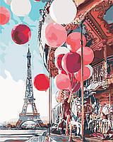"""Картина по номерам """"Парижская сказка"""" 40 х 50 см, С Коробкой"""