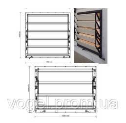 Приточні жалюзі 17K-SKOV 153,8x153,8cm, пластик
