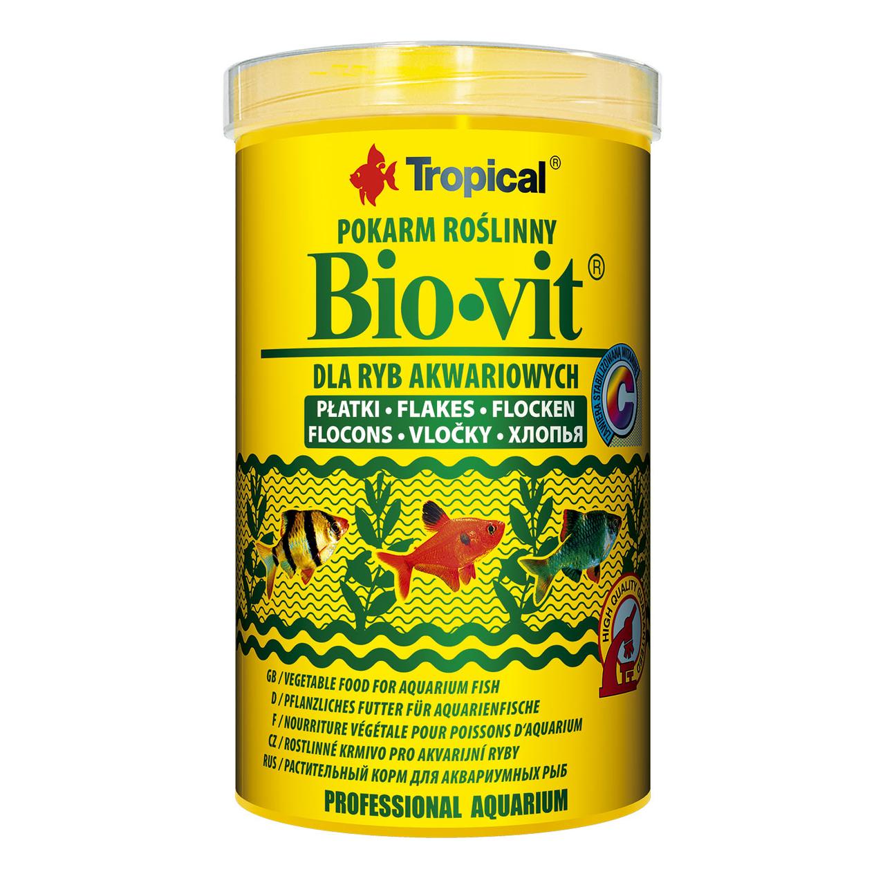 Tropical в хлопьях «Bio-Vit» 1 л для травоядных рыб
