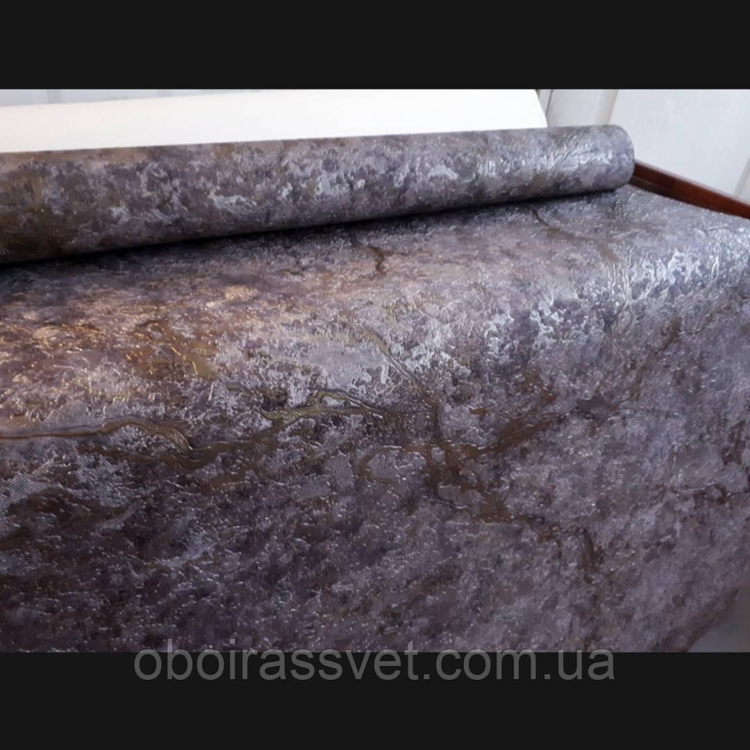 Обои Карамболь 2 8575-13 винил горячего тиснения на флизелине,шелкография 15 м,ширина 1.06=5 полос по 3 метра