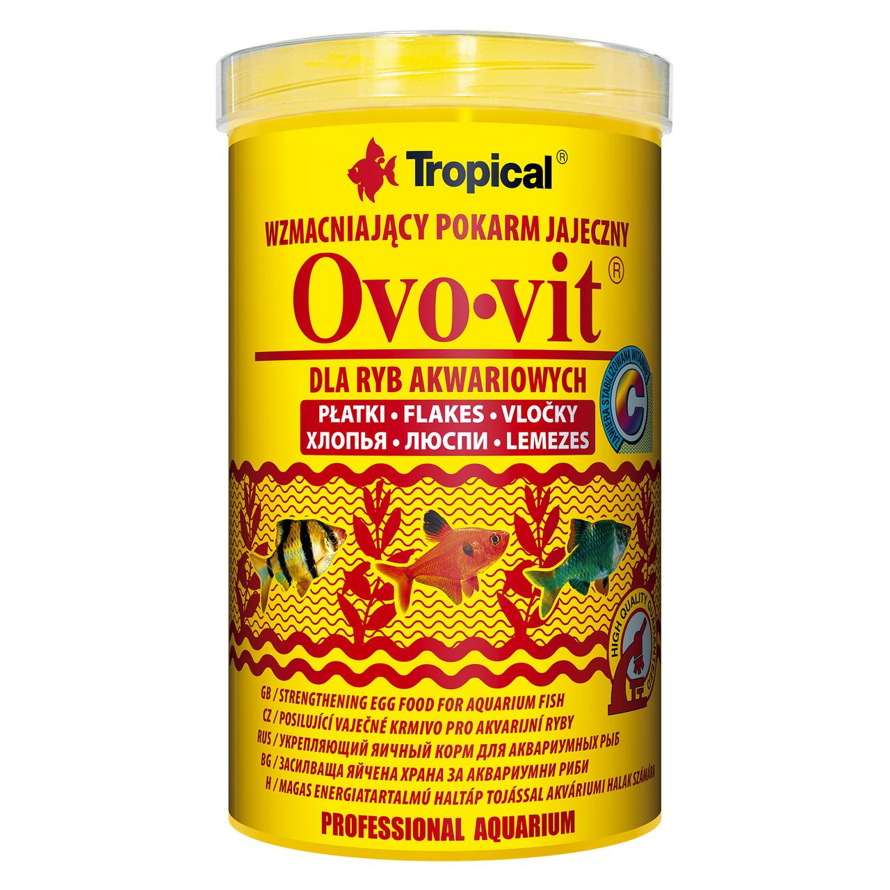 Tropical в хлопьях «Ovo-Vit» 1 л для всех аквариумных рыб