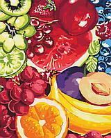 Раскраска для взрослых и детей Аппетитные фрукты 40 х 50см , С Коробкой, фото 1