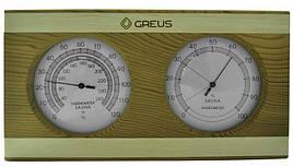 Термо-гигрометр Greus 26х14 кедр/сосна