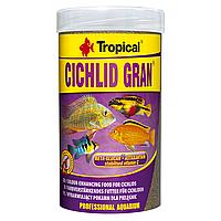 Сухой корм для аквариумных рыб Tropical в гранулах «Cichlid Gran» 250 мл (для всех цихлид) 60454