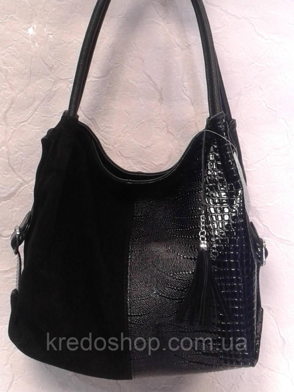 f10d6018cbb1 Сумка женская черная замшевая с лаком,стильная: продажа, цена в ...