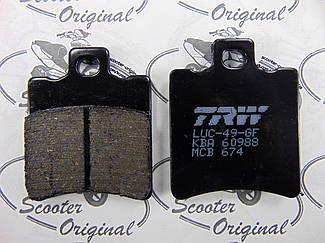 TRW / Lucas Серія Organic (MCB674) Гальмівні колодки Yamaha Aerox, Yamaha Slider, BWS, MBK Nitro, Aprilia SR