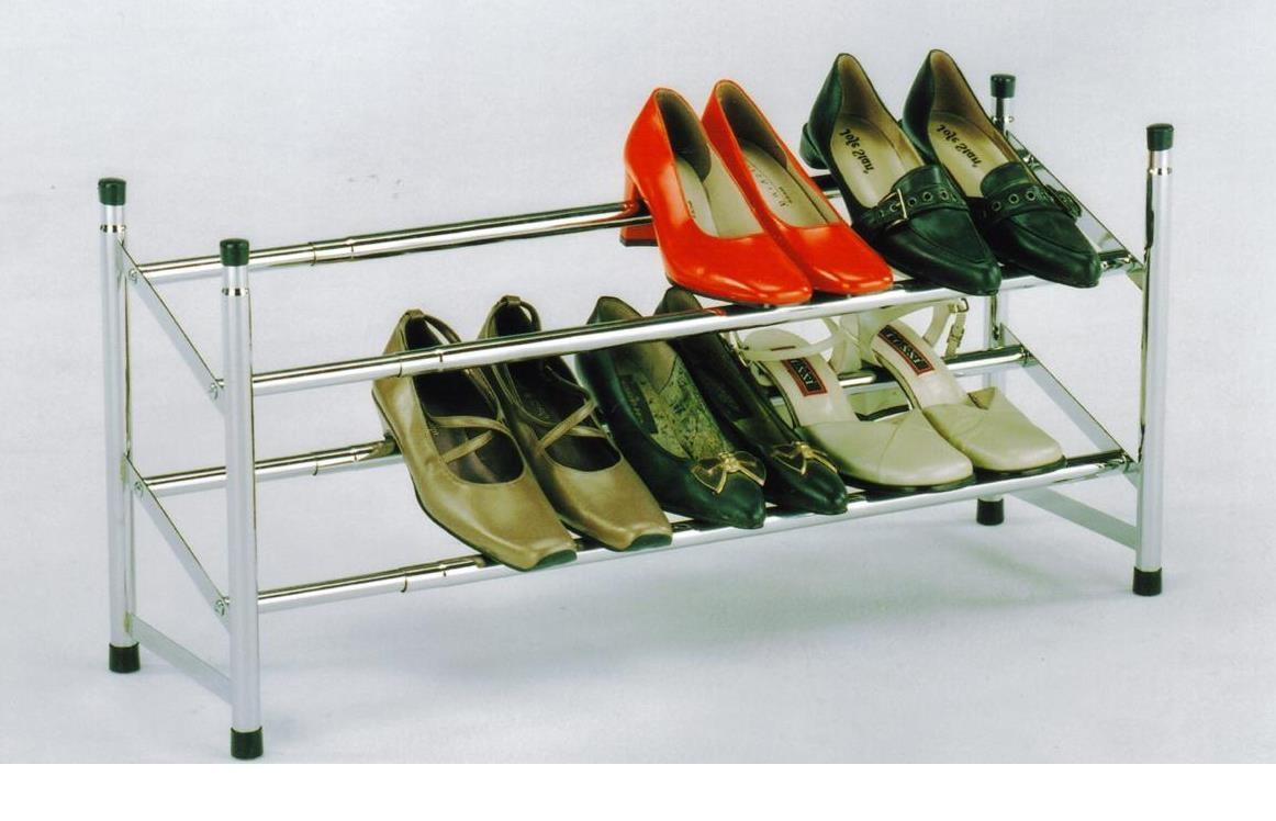Полка для обуви раздвижная хром