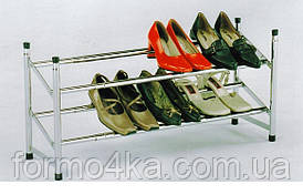 Полиця для взуття розсувна хром