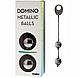 Кульки вагінальні металеві Domino Metallic Balls chrome black, фото 6