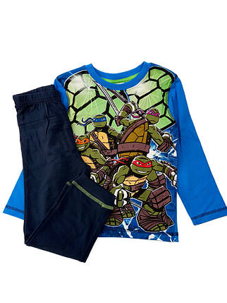 Пижама детская для мальчика хлопковая Черепашки- ниндзя 4 года, фото 2
