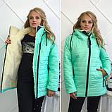 Зимняя женская куртка Стеганная плащевка на искусственной овчине Размер 50 52 54 Разные цвета, фото 4