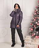 Зимняя женская куртка Стеганная плащевка на искусственной овчине Размер 50 52 54 Разные цвета, фото 6
