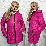 Зимняя женская куртка Стеганная плащевка на искусственной овчине Размер 50 52 54 Разные цвета, фото 5