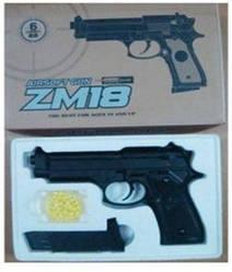 Металевий пістолет ZM18 пневматичний точна копія Beretta M92 кульки 6 мм Airsoft Gun
