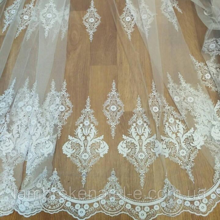 Гардина белая фатин в зал Новый Версаль
