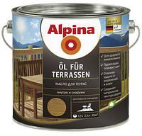 Масло для террас на водной основе Alpina Öl für Terrassen 2,5 л (прозрачное)