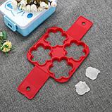 Силиконовая форма для оладий, сырников и омлетов Flippin fantastic на 4 ячейки, фото 3