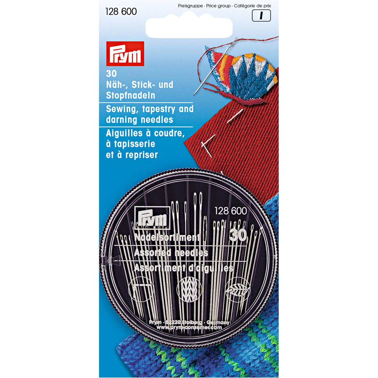 Иглы Prym 128600 швейные для шитья, вышивки и штопки, 30 шт.