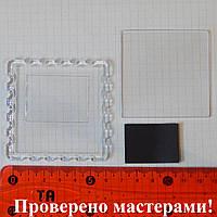 Акриловая заготовка для магнита 65*65 мм, с резным краем