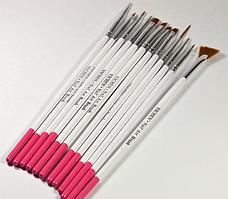 Кисти для ногтей маникюра живописи Nail Art 12шт