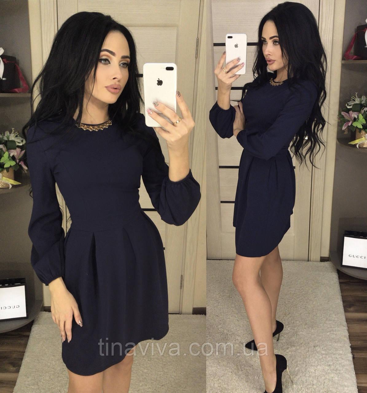 """Элегантное женское  платье с украшением (жіноче плаття ) """"Женя"""" 2 цвета"""