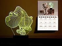"""Сменная пластина для 3D светильников """"Пёсик"""" 3DTOYSLAMP, фото 1"""