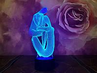 """Сменная пластина для 3D светильников """"Медитация 2"""" 3DTOYSLAMP, фото 1"""