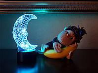 """Сменная пластина для 3D светильников """"Месяц"""" 3DTOYSLAMP, фото 1"""