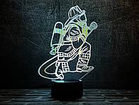 """Сменная пластина для 3D светильников """"Пожарный 2"""" 3DTOYSLAMP, фото 1"""