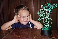 """Сменная пластина для 3D светильников """"Щенячий патруль"""" 3DTOYSLAMP, фото 1"""