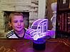 """Сменная пластина для 3D светильников """"Автомобиль 17"""" 3DTOYSLAMP"""