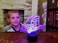 """Сменная пластина для 3D светильников """"Автомобиль 17"""" 3DTOYSLAMP, фото 1"""