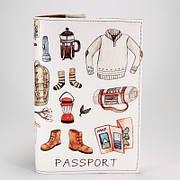 """Обложка на паспорт """"Походный набор"""", экокожа"""