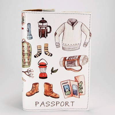 """Обложка на паспорт """"Походный набор"""", экокожа, фото 2"""