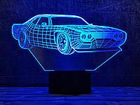 """Сменная пластина для 3D светильников """"Автомобиль 29"""" 3DTOYSLAMP, фото 1"""