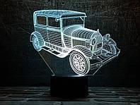 """Сменная пластина для 3D светильников """"Автомобиль 33"""" 3DTOYSLAMP, фото 1"""