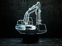 """Сменная пластина для 3D светильников """"Экскаватор"""" 3DTOYSLAMP, фото 1"""