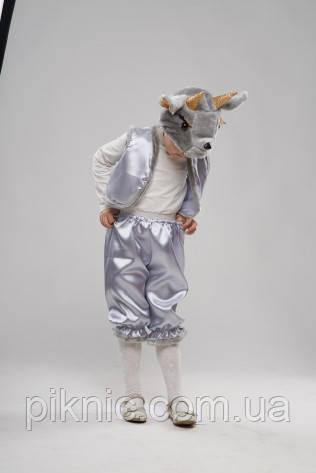 Детский костюм Козленок, Козлик серый для мальчиков 3,4,5 лет. Карнавальный костюм, фото 2