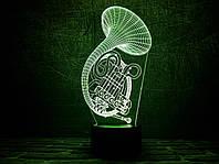 """Сменная пластина для 3D светильников """"Труба 2"""" 3DTOYSLAMP, фото 1"""