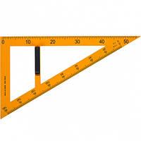 Треугольник прямоугольный пластиковый жёлтый для доски