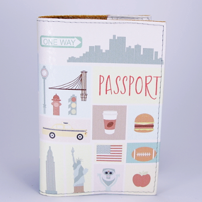 """Обложка на паспорт """"Америка. Статуя свободы"""", экокожа, фото 2"""