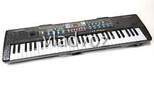 Детский синтезатор музыкальный пианино с микрофоном usb 61 клавиша работа от сети, фото 3